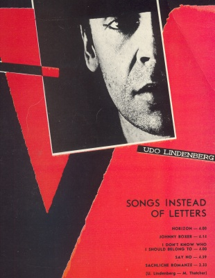 ALLA PUGACHEVA/UDO LINDENBERG - Songs Instead Letters - 12 inch 33 rpm